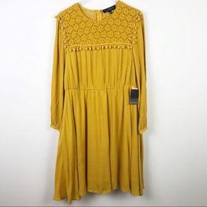 Eloquii   Long Sleeve Crotchet Dress
